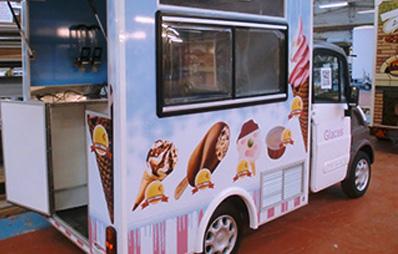 Ice cream truck specific vehicles Carlier Plastiques GRP Panels