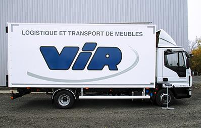 véhicule déménagement Carlier Plastiques panneaux composites